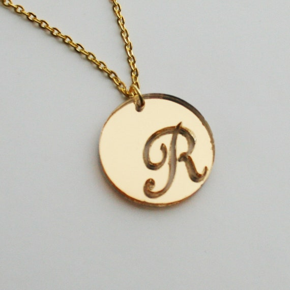 Charming initial engraved necklace - with free gift box!