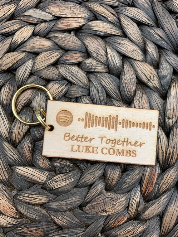 Spotify Song of Your Choice Keychain, Spotify Code Keychain