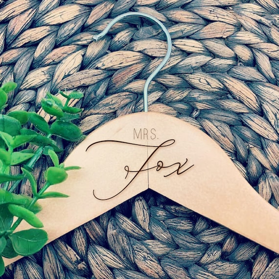 Mrs. Wedding Dress Hanger, Mr. Suit Hanger, Personalized Wedding Dress Hanger, Engraved Hanger
