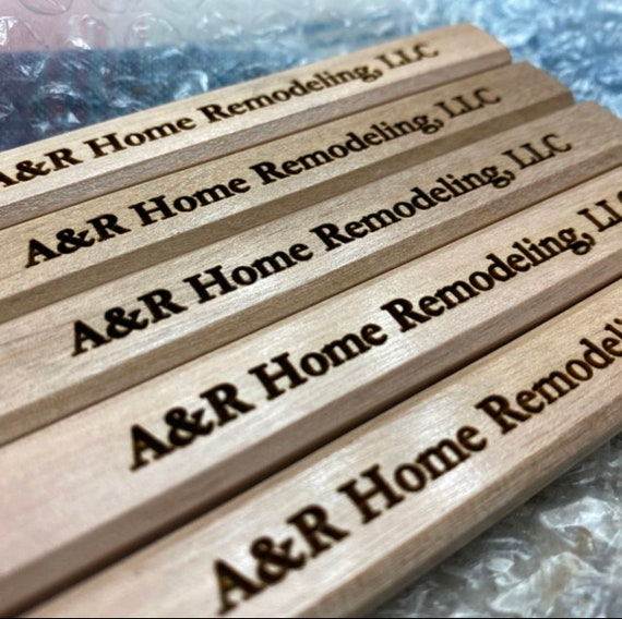 Personalized Carpenter Pencil, Gifts for Dad, Gift for Builder, Contractor Gift