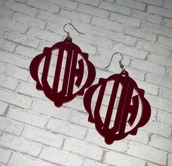 Quatrefoil Monogram Earrings