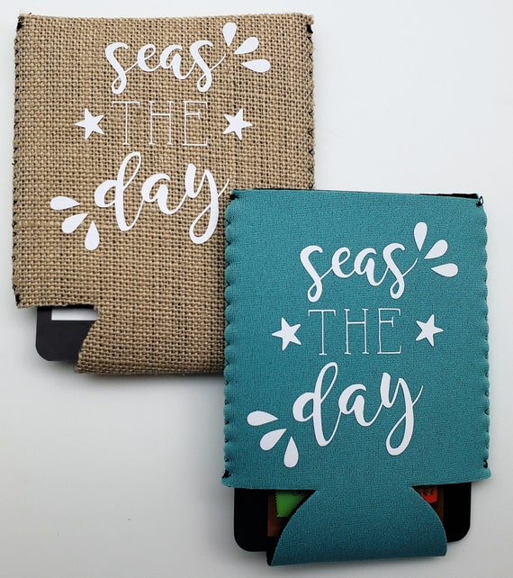 Seas the Day Can Cooler - Perfect for the beach, sea, lake or sun lover in your life!