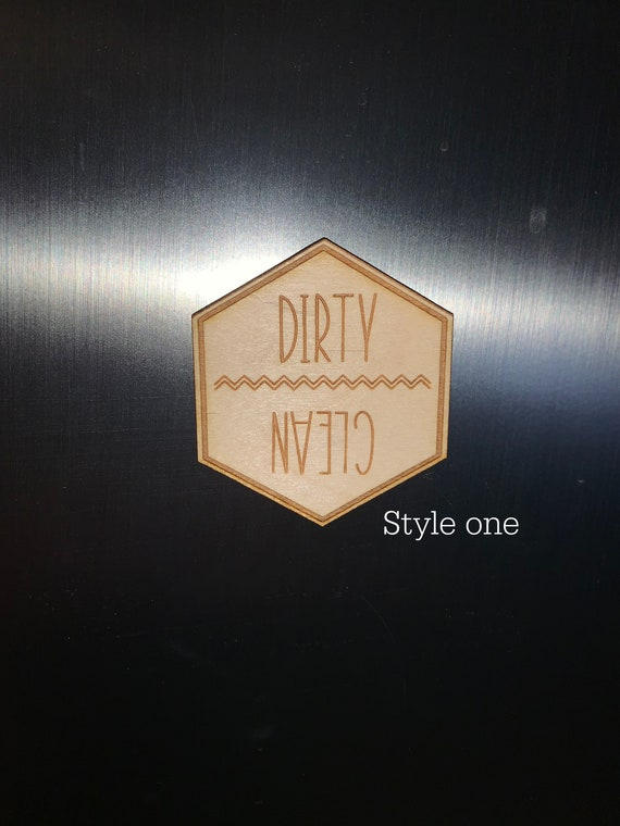 Clean or Dirty Dish Washer Magnet, Dish Washer Magnet, Empty the Dishwasher, Load the Dishwasher