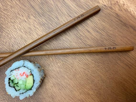 Wood Engraved Engraved Chopsticks, Personalized Chopsticks