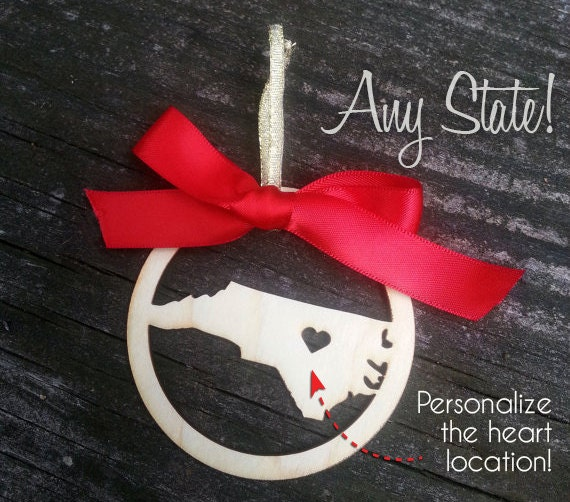 Personalized North Carolina (or any state) Christmas Ornament