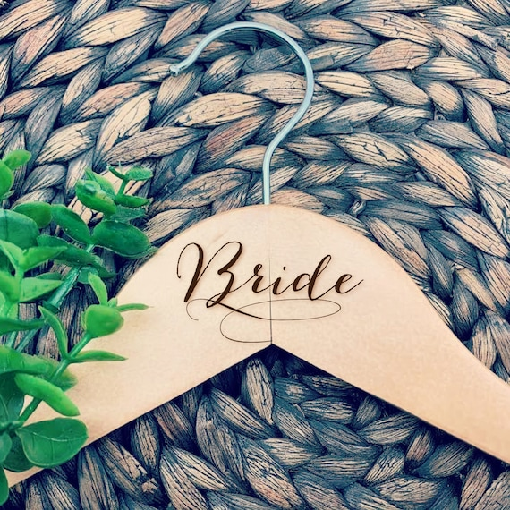 Engraved Bride Hanger, Engraved Maid of Honor Hanger, Engraved Bridesmaid Hanger, Engraved Mother of Bride Hanger, Wedding Party Gifts