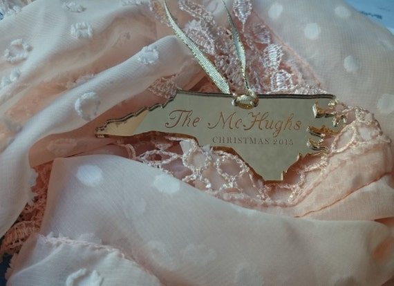 ANY State Personalized Engraved Christmas Ornament
