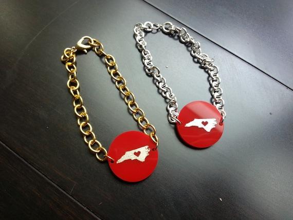 Raleigh embellished acrylic bracelet - with gift box!