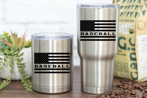 American Flag Baseball Vinyl - Perfect for your car, tumber, waterbottle, laptop, tablet, notebook and more!