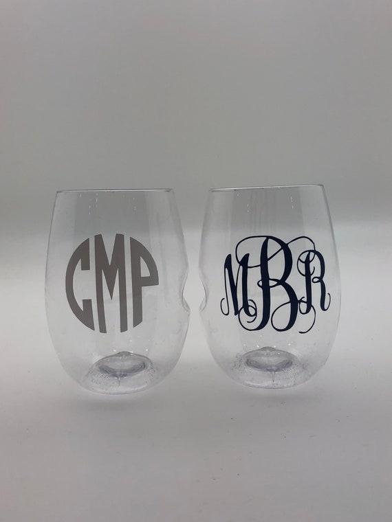 Monogrammed GoVino Wine Glass (Single Unit)