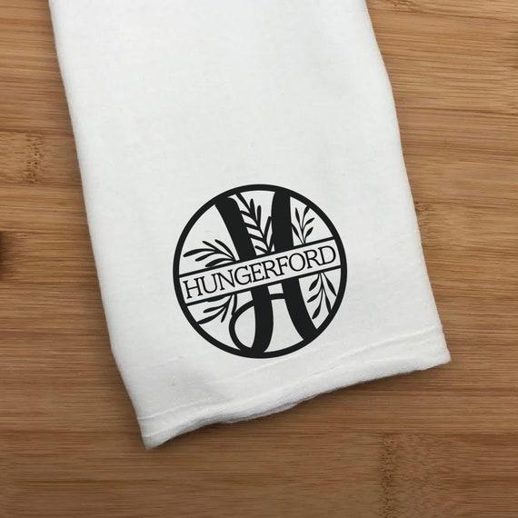 Monogram Kitchen Towel, Monogram Hand Towel