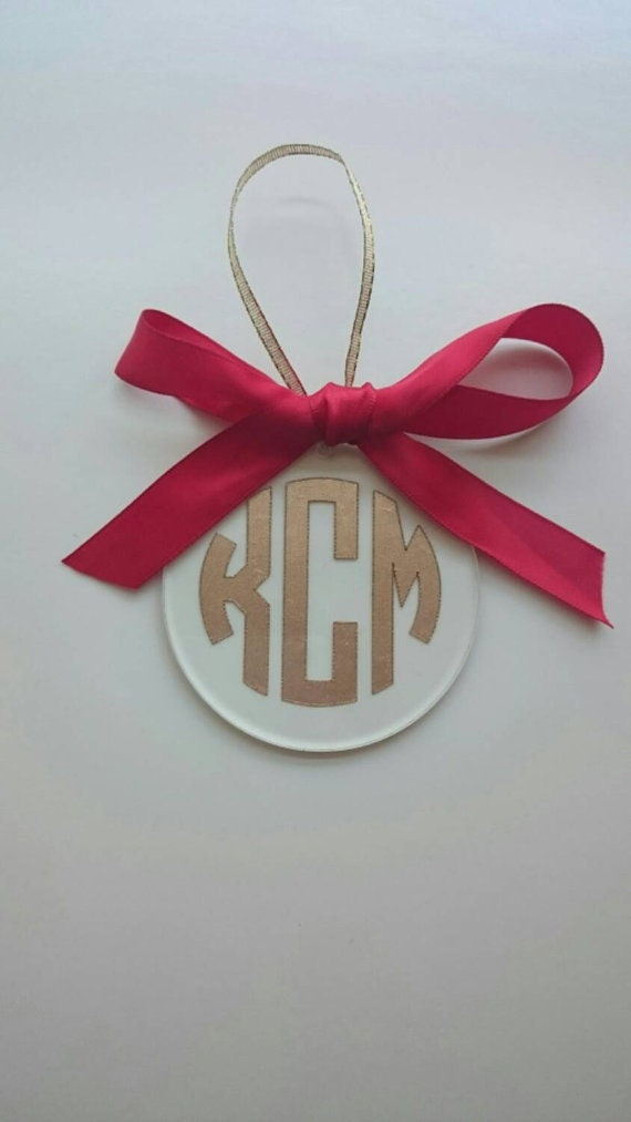Monogram Shatter-proof Christmas Ornament