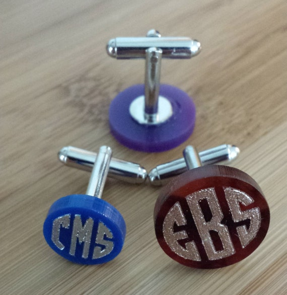 Personalized Monogram Cuff Links - with gift box