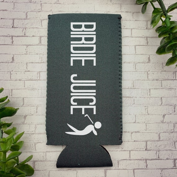 Birdie Juice Skinny Can Cooler, Golf Slim Can Cooler, Gifts for Golfers