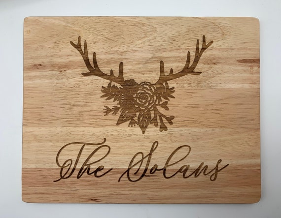 The Hunt Personalized Cutting Board.
