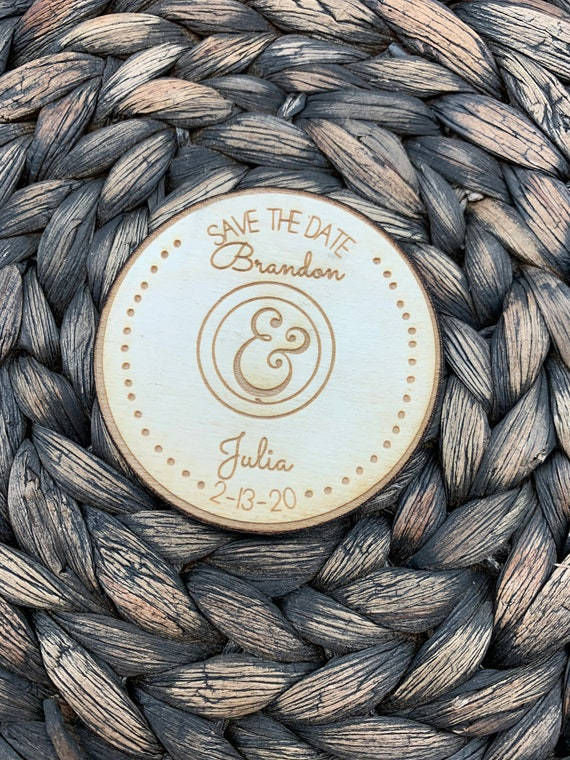Save The Date Circle Magnet