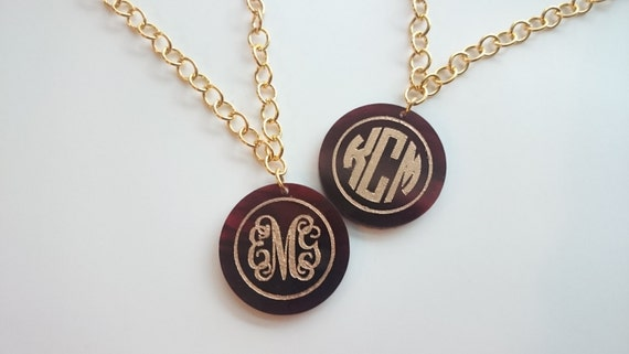 Royal Collection: Monogram Necklace with extra long chain