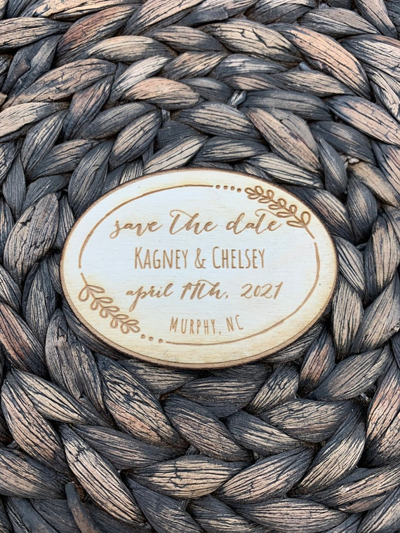 Save The Date Oval Magnet