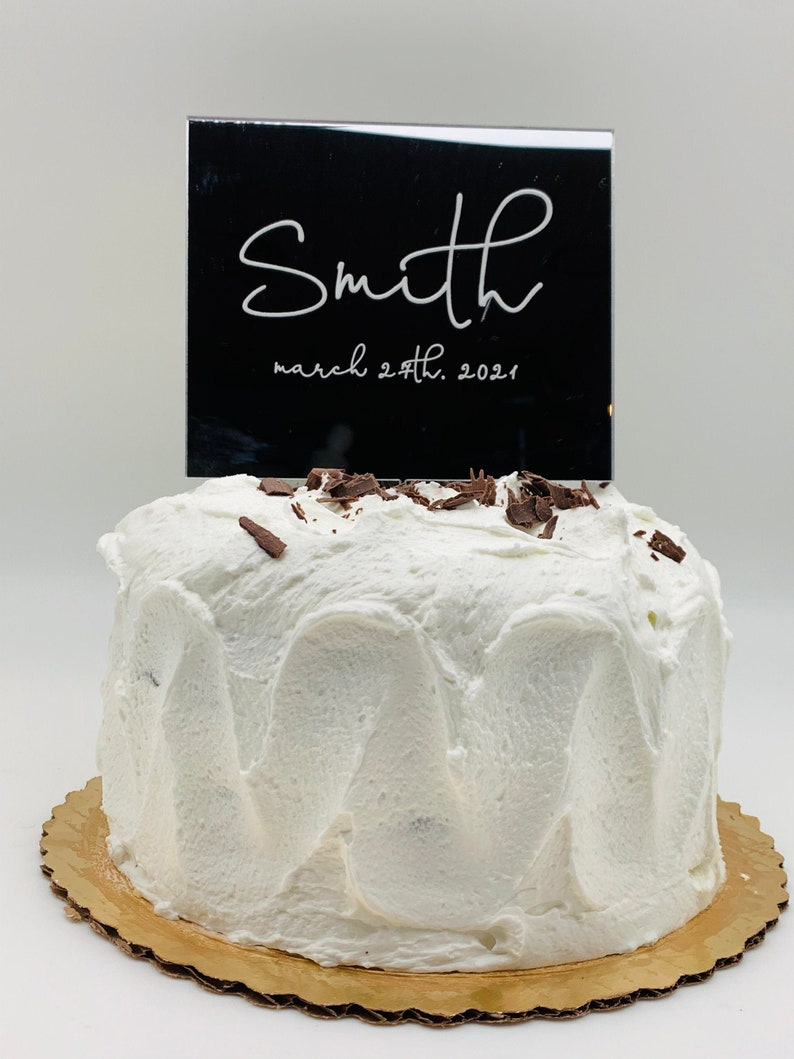 Name And Date Cake Topper