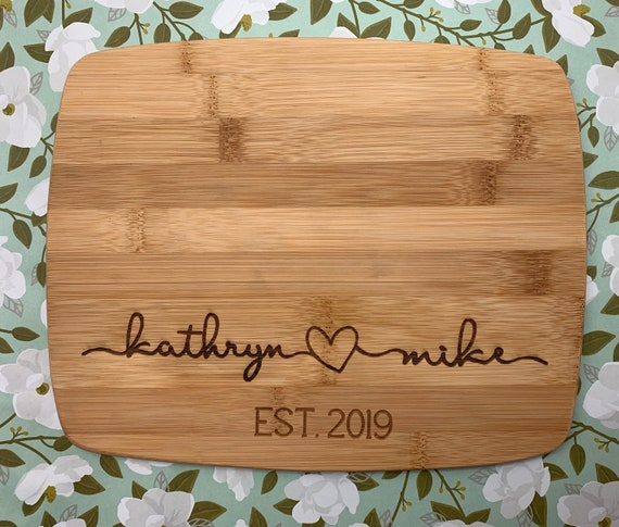Personalized Cutting Board. Perfect gift for weddings, housewarmings, and anniversaries.