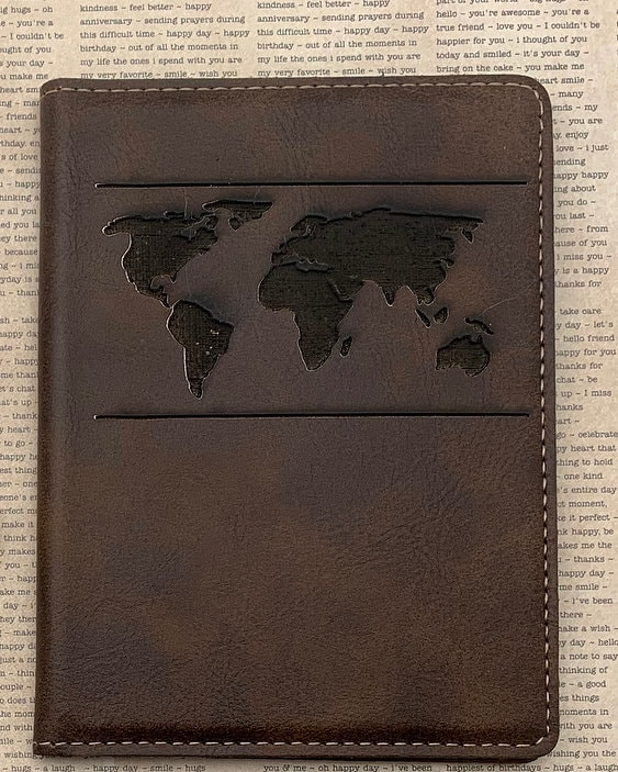 ee428f276f18 Personalized Passport Holder, Faux Leather, customized gifts ...