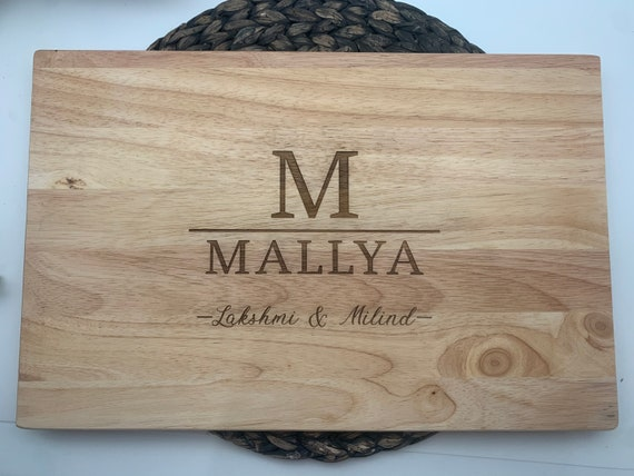 Initial and Last Name Cutting Board