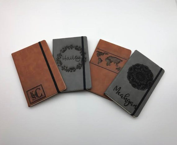 Custom Engraved Faux Leather Journal, Custom Laser Engraved , Faux Leather Journal, Gifts for Him, Gifts For Her, Unique Custom Gift