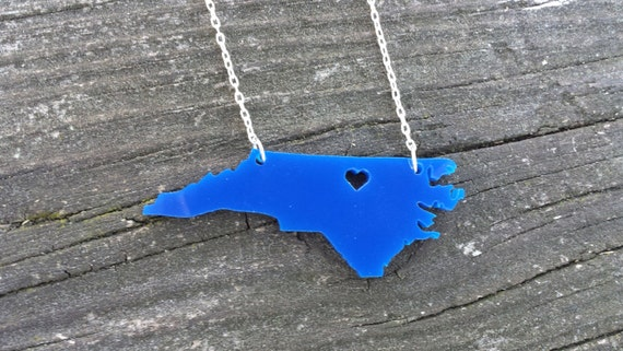 Personalized!  Heart over Durham, NC necklace