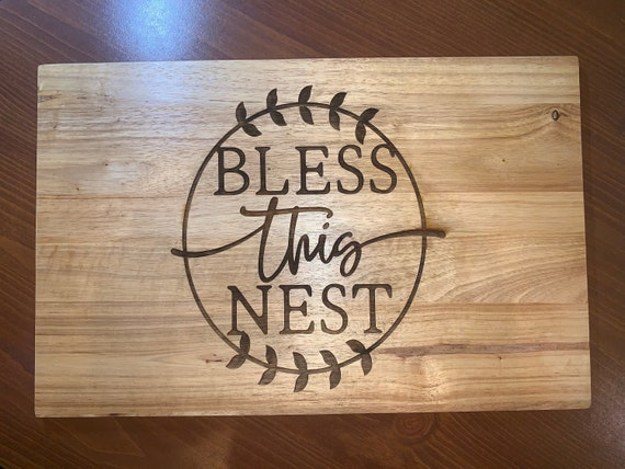 Bless This Nest - Cutting Board