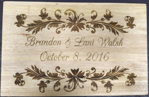 Husband and Wife Engraved Cutting Board - Multiple Sizes!  Perfect for a Wedding or Anniversary