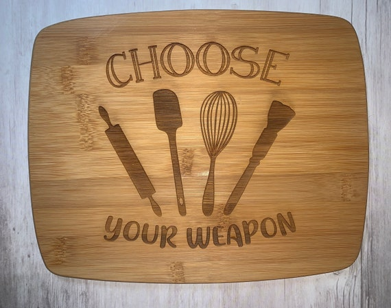 Choose Your Weapon Kitchen Cutting Board - Cutting Board