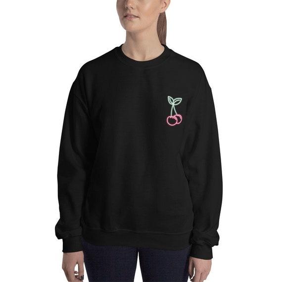 6abef81e3571e neon cherries - sweatshirts for women - pastel goth - aesthetic tumblr -  90s grunge - neon aesthetic - grunge style - lana del rey