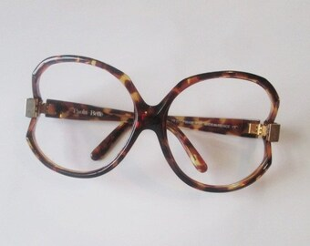 9ab655d9bc49 Paola Belle Eyeglasses Frames Vintage 1970s Tortoiseshell Huge Oversized  Designer Eyewear