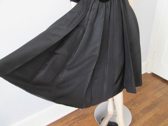 Vintage 1980s Party Prom Dress Black Velvet Aceta… - image 4