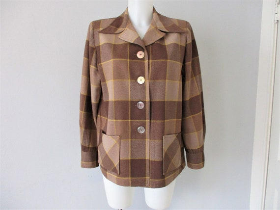 PENDLETON 49er Jacket Blazer Vintage 1940s Brown W
