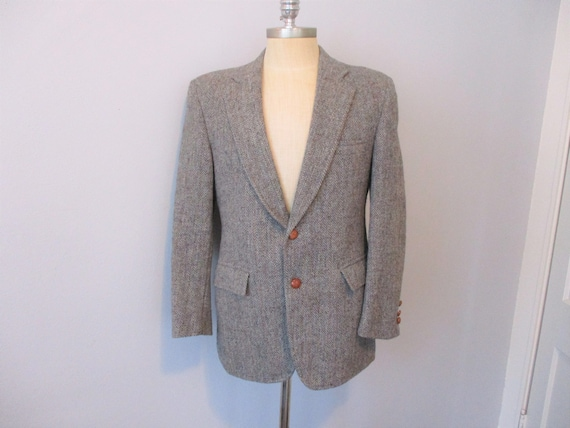 HARRIS TWEED Jacket Sport Coat Blazer Vintage 1970