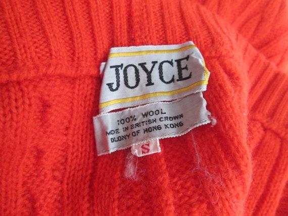 Orange Knit Pants Vintage 1970s Cable Knit Wool S… - image 8