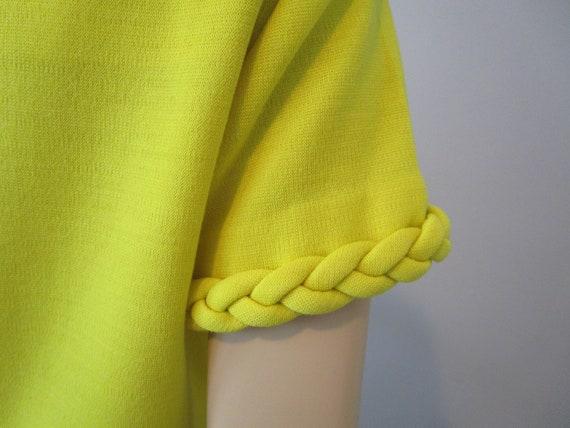 Tunic Dress Pants Suit Vintage 1970s Chartreuse Y… - image 6