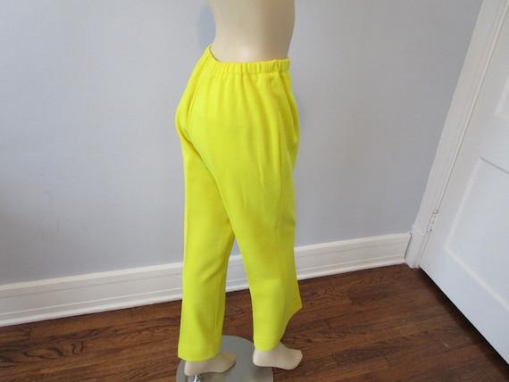 Tunic Dress Pants Suit Vintage 1970s Chartreuse Y… - image 9