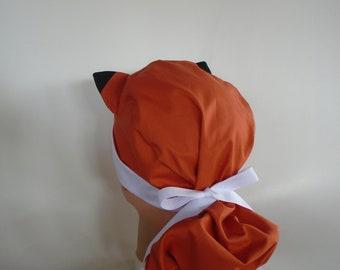 56f970ff77f3f Fabulous Fox Ears - Ponytail Womens surgical scrub cap