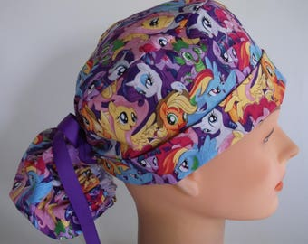 89a25f2a80782 My Little Pony Magic Ponytail - Womens lined surgical scrub cap