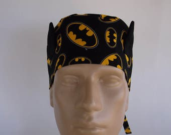 Batman Ears Men s Surgical Scrub Hat with sweatband option a7ed7e13bfda