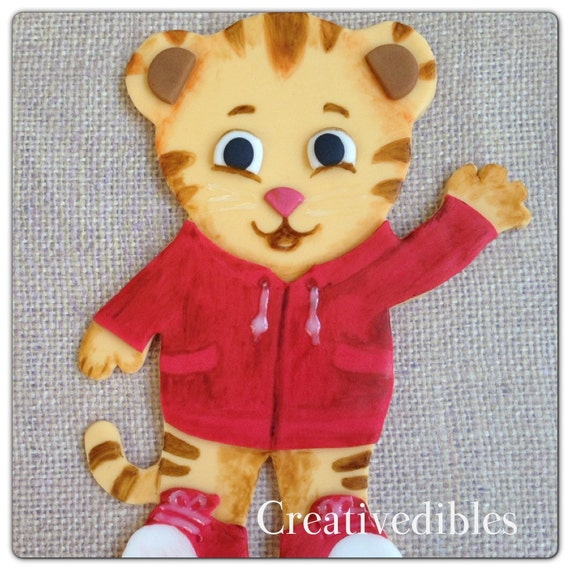 Items Similar To Daniel Tiger Inspired Cake Fondant Topper