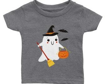 Classic Baby Crewneck T-shirt | Cute Baby Tee | Ghost | Halloween T-shirt