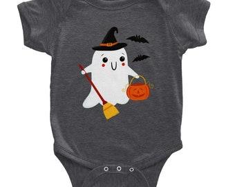 Classic Baby Short Sleeve Onesie | Cute Onesie | Ghost | Halloween Onesie