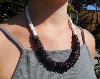 High Contrast Beaded Necklace