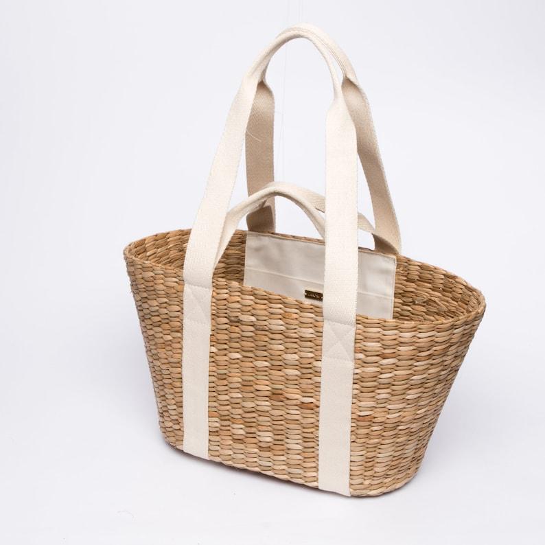 bonne texture profiter de prix bas style de la mode de 2019 French market tote Sustainable Sac vegan bag