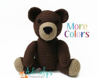 Crochet Bear- Crochet Animals- Stuffed Teddy Bear- Woodland Animals- Forest Animals- Handmade Bear- Crochet Toy- Toy Plush- Made to Order