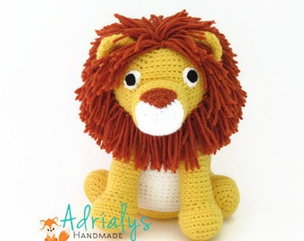 Crochet Lion- Stuffed Lion- Lion Plush- African Animals- Safari Animals- Big Cats- Handmade Lion- Crochet Toy- Jungle Animals- Made to Order