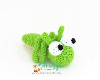 Crochet Grasshopper | Crochet Animals | Crochet Toy | Amigurumi Grasshopper | Bugs | Grasshopper Toy | Crochet Amigurumi | Made to Order